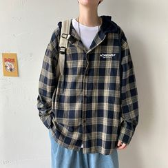 Alvicio - Plaid Hooded Shirt