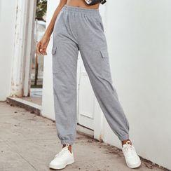 Satinoah - Pocketed Jogger Sweatpants