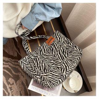 Perlin - Zebra Print Canvas Tote Bag