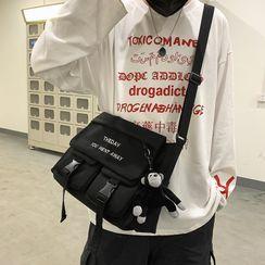 Gokk - Letter Embroidered Nylon Crossbody Bag