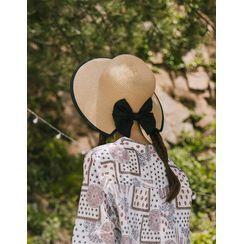 GOROKE - Bow-Back Raffia Hat