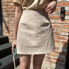 MERONGSHOP - A-Line Miniskirt