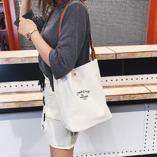 Tiff - Lettering Canvas Tote Bag