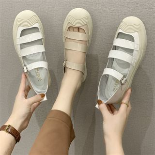 Putcho(プッチョ) - Round Toe Mary Jane Flats