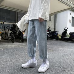 jaywoon - Cropped Straight Leg Jeans