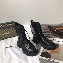 DURAC - Lace-Up Platform Short Boots