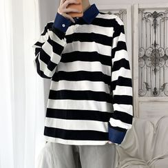 Ceache - Striped Polo Sweatshirt