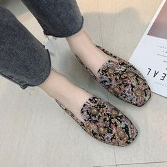 Mowin - Studded Floral Loafers