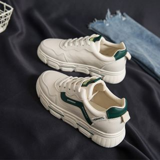 Margaux Jo(マルゴー・ジョー) - Embroidered Platform Sneakers