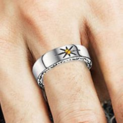 Andante - Stainless Steel Sun Ring