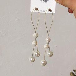 DREN - Faux Pearl Drop Earring