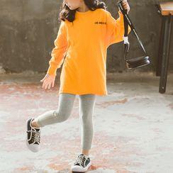 Island Puppies - Kids Set: Lettering Pullover + Leggings