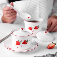 Heysoo - Strawberry Print Ceramic Stew Pot Kit