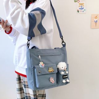 Little Days(リトルデイズ) - Tote Bag with Brooches, Bag Charm and Plush Animal