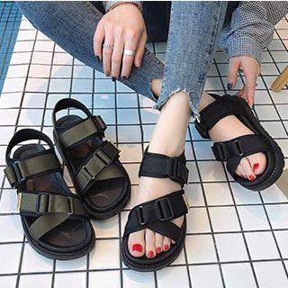 Shoeland - Platform Ankle Strap Sandals