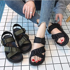Shoeland - Platform Ankle Strap Sandals