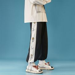 YERGO - 印花側哈倫褲