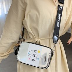 Emvee - Lettering Print Crossbody Bag