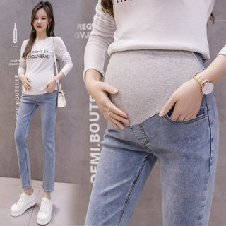 Mamaladies - Maternity Stomach Lift Straight-Leg Jeans