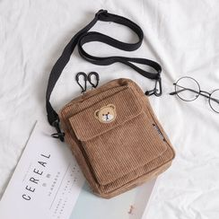 Vintage Kiss(ヴィンテージキス) - Corduroy Mini Crossbody Bag