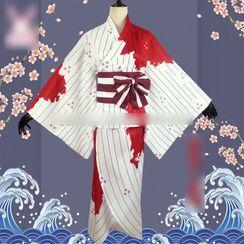Mikasa - Demon Slayer: Kimetsu No Yaiba Kamado Nezuko Cosplay Costume Set / Props