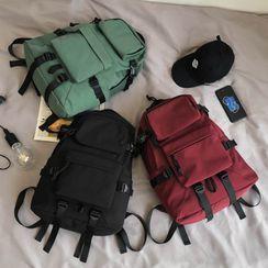 Gokk - 纯色尼龙拉链背包