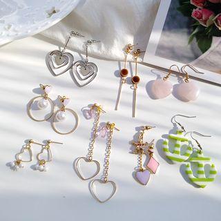 Siatra - Alloy Drop Earrings (Various Designs)