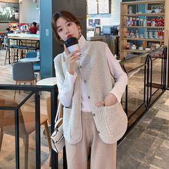 Elisah - Fleece Button-Up Vest