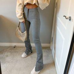 Honet - Side-Slit Skinny Pants