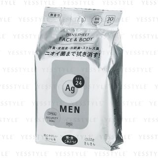 Shiseido 資生堂 - Ag Deo 24 男士面部及身體除汗紙 30 片