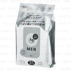 Shiseido - Ag Deo 24 Men Face & Body Sheet 30 pcs