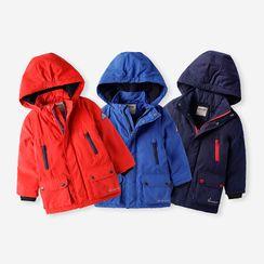 Happy Go Lucky - Kids Hooded Padded Zip Jacket