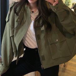 Rorah - Stand Collar Utility Jacket