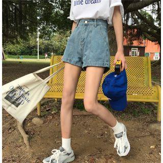 Guajillo - High-Waist Straight Fit Shorts