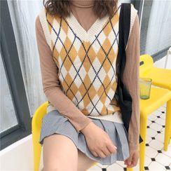 Sienne - Argyle Knit Vest