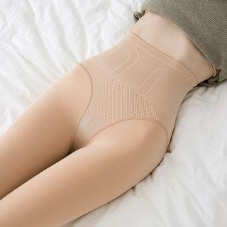 nooyi - 內抓毛高腰貼身褲