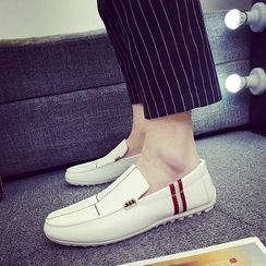 Solejoy - 条纹边乐福鞋