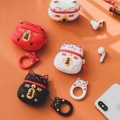 Ms Zaa - Fortune Cat AirPods/AirPods Pro Earphone Case Protection Cover