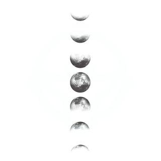 abecome - 月亮防水紋身貼紙