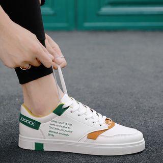 HANO - 插色字母仿皮休閒鞋