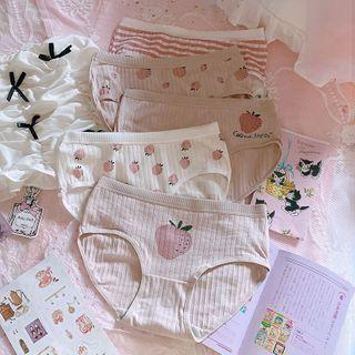 Prinsis - Set of 5: Strawberry Print Panties