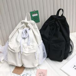 EAVALURE - Drawstring Canvas Backpack