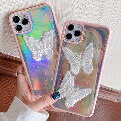 TinyGal - 炫彩蝴蝶手机保护套 - iPhone 11 Pro Max / 11 Pro / 11 / SE / XS Max / XS / XR / X / SE 2 / 8 / 8 Plus / 7 / 7 Plus