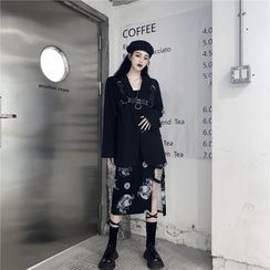 Giuliana - Asymmetric Belted Cutout Midi Skirt