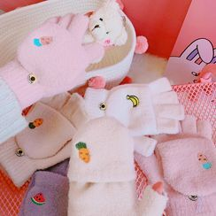 Yunikon(ユニコン) - Food Embroidered Chenille Gloves