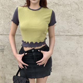 Be Bonita - Mock Two-Piece Short-Sleeve T-Shirt