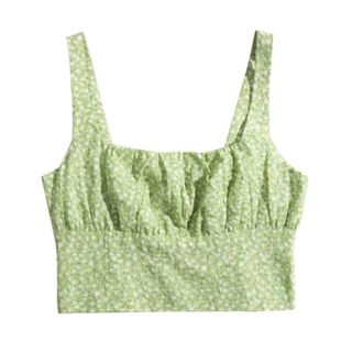 AMeow - Floral Print Cropped Camisole Top