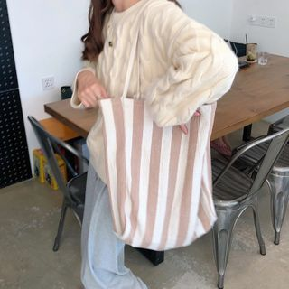 Milha - 條紋帆布手提袋