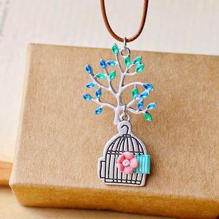 Nisen - Collier pendentif cage à oiseaux