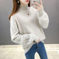 Autunno - 純色小高領毛衣